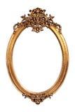 Oval gold vintage frame Stock Photography