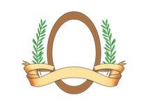 Ovale frame en rol Royalty-vrije Stock Afbeelding