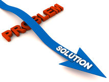 Overcome problem with solution Royalty Free Stock Image