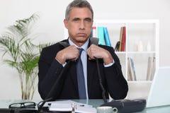 Overwhelmed executive Royalty Free Stock Photo