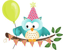 Owl Happy Birthday Stock Photography