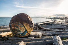 Ozean debree in Vancouver Lizenzfreies Stockfoto