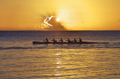 Pacific Canoe at Sunset Stock Photos