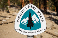 Pacific Crest Trail Sign Royalty Free Stock Images