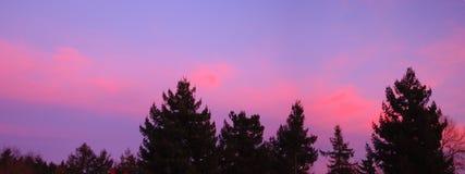 Pacific Northwest Sunrise Panoramic Stock Photo