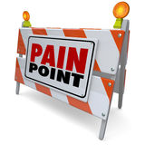 Pain Point Sign Warning Danger Customer Problem Difficulty Need Royalty Free Stock Photo