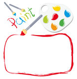 Paint frame Royalty Free Stock Photography