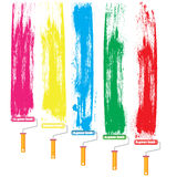 Paint roller and color Royalty Free Stock Image