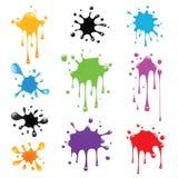 Paint splash set Royalty Free Stock Photography