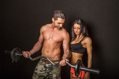 Couple in gym Royalty Free Stock Image