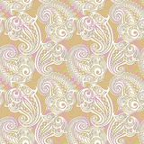 Paisley seamless lace pattern Royalty Free Stock Images