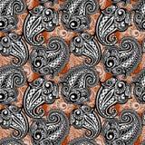 Paisley seamless lace pattern Stock Photo