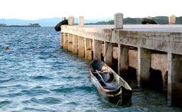 Panama cayuca boat Porvenir Island Stock Photos