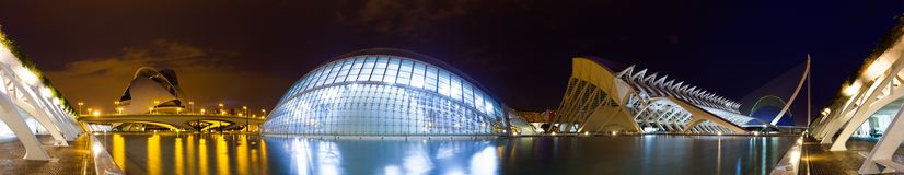 Panorama of City of Arts and Sciences. Valencia, Spain Royalty Free Stock Photography