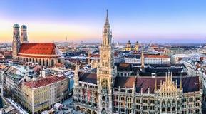 Panorama view of Munich city center Stock Photography