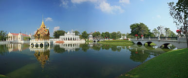Panoramic view of Bang Pa-In Palace Stock Photo