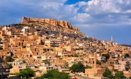 Panoramic view of Mardin, Turkey Royalty Free Stock Photo