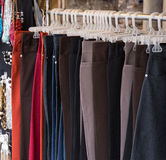 Pants on the hanger Royalty Free Stock Photography