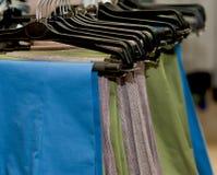 Pants on hangers. Royalty Free Stock Image
