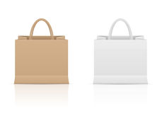 Paper bag set Royalty Free Stock Photography