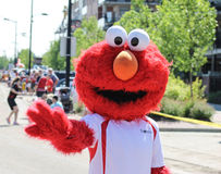 Parade with costumes of Elmo Royalty Free Stock Image