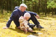 Parent teaching child nature Stock Photography