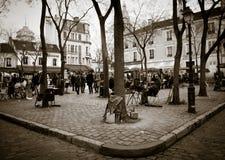 Paris square - Montmartre Royalty Free Stock Images