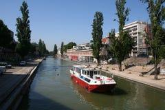 Parisian canal Royalty Free Stock Photos