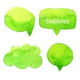 Parlez le vecteur réglé d'aquarelle de bulles Photographie stock