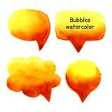 Parlez le vecteur réglé d'aquarelle de bulles Photo stock