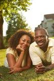parte esterna felice delle coppie Immagine Stock Libera da Diritti