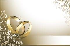 Partecipazione di nozze Fotografie Stock