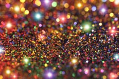 Party Lights Glitter and Stars Background Stock Image