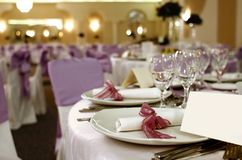 Party table arrangement Royalty Free Stock Images