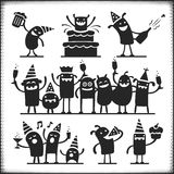 Partying Characters Stock Photography