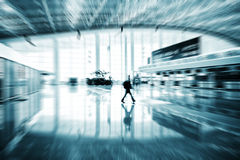 Passenger in the Shanghai Airport Stock Photography