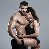 Passionate couple Stock Photography