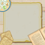 Passover Seder meal party invitation Royalty Free Stock Image