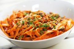 Pasta tomato sauce Stock Images