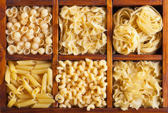 Pasta variety Royalty Free Stock Images