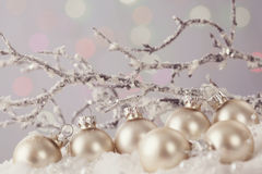 Pastel colored ornaments Stock Image