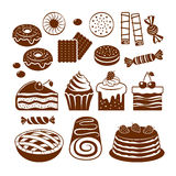 Pastry icon set. Royalty Free Stock Photography