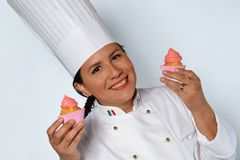 Pastry woman cook Royalty Free Stock Images