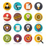 Patent Idea Protection Icons Royalty Free Stock Image