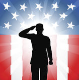 Patriotic soldier salute Royalty Free Stock Image