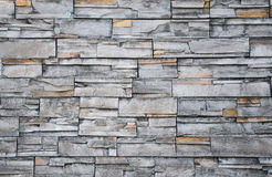 Pattern gray color of stone wall decorative Royalty Free Stock Photo