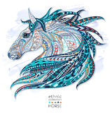 Patterned head of the horse Royalty Free Stock Photos