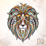 Patterned head of lion Royalty Free Stock Photos