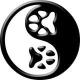 Paw print yin yang Stock Photos