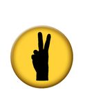 Peace Icon Button Stock Image